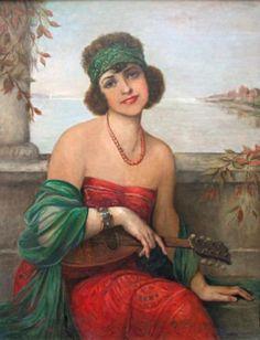 François Martin-Kavel : Jeune Femme à la Mandoline