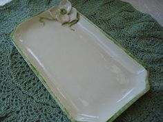 Handmade dish. Can be used for cheese & crackers, jewelry, soap, etc. IBHandmade. $15.00