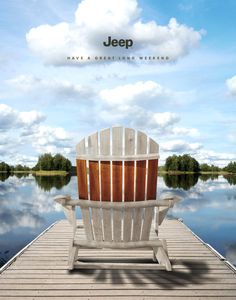Jeep Print Advert By Publicis: Long Weekends | Ads of the World™ Outdoor Chairs, Outdoor Furniture, Outdoor Decor, Advertising, Ads, Long Weekend, Jeep, Marketing, Home Decor