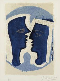 Жорж Брак (французский, 1882-1963), Le Пара , 1963. Цветная литография на крем ткали бумаги, 38 х 28 ...