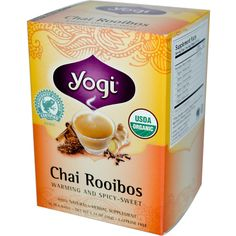 Yogi Tea, Chai Rooibos, Caffeine Free, 16 Tea Bags, 1.27 oz (36 g): perfect Rooibos blend.