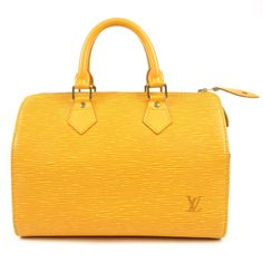 LOUIS VUITTON Epi Speedy 25 Hand Boston Bag Yellow M43019 Used F/S