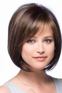 A-line Chin-Length Bob Cut Full Lace Synthetic Modern Wig - wigworlds.com