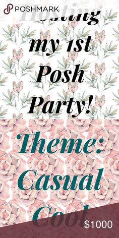 Hosting my Fist Posh Part! Theme: Casual Cool Date: Friday, July 21st, 7pm (PST)  Looking for host picks for my very first party! Please feel free to tag me in 1 item for me to consider - Posh compliant closets only. Thanks! Accessories