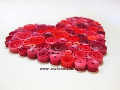 Adorable.  quilled heart.  i'm beginning to think i need to learn to quill