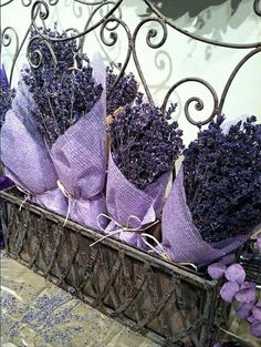 Lavender all beautified the Ana Rosa way.                                                                                                                                                                                 More