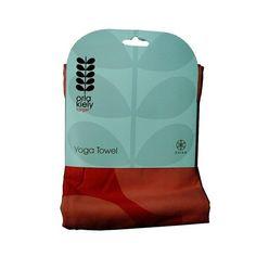 Orla Kiely Yoga Towel by Gaiam Giant Flower Spot Rose Dual-Grip