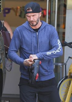 7fc744dc767 David Beckham reveals unsightly sweat patches