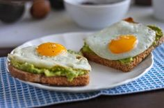 Avocado and eggs on toast... must try this for breakfast soon!