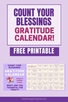 Stop doodling in your gratitude journal and actually write something you're thankful for.  Never stress about what to write in your gratitude journal again.  40 free gratitude journal idea prompts, right here in this free printable. #gratitude #inspiration #christianlife #thingstobethankfulfor #oneexceptionallife #gratitudejournalprompts