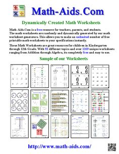 Math-Aids.Com - Unlimited Dynamically Created Math Worksheets