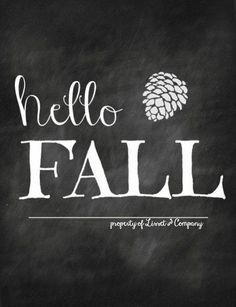Hello Fall Chalkboard via Etsy Fall Chalkboard, Chalkboard Print, Chalkboard Designs, Chalkboard Ideas, Chalkboard Quotes, Chalkboard Lettering, Lettering Art, Chalk It Up, Chalk Art