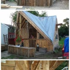 Skid Shack From Reclaimed Wood (Skid & Crates) Pallet Kids, Pallet Barn, Pallet Shed, Pallet House, Pallets Garden, Pallet Benches, Pallet Tables, Outdoor Pallet, Free Pallets
