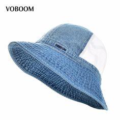d9d7f7f713432 Click to Buy    VOBOOM Summer Mesh Panama Bucket Hat Men s Women s Fishing