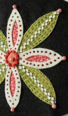 Reverse wool applique. www.theraspberryrabbits.blogspot.com