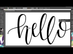 Tutorial: How to Digitize Hand Lettering & Calligraphy Using Illustrator | BySamantha - YouTube