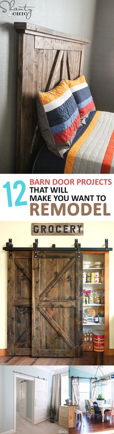 After reading this article you won't be able to wait to put one (or many) barn doors in your home!