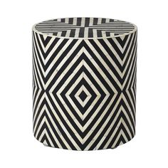 Bone Inlay End Table Wooden Round Coffee Table Handmade Inlay Furniture Stool White Stool, Wow Products, Contemporary Furniture, A Team, End Tables, Home Accessories, Monochrome, Bones, Handmade Items