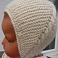 Au jourd'hui voici un bonnet que j'aime beaucoup offrir comme (petit) cadeau de naissance. Il est agréable à tricoter,...