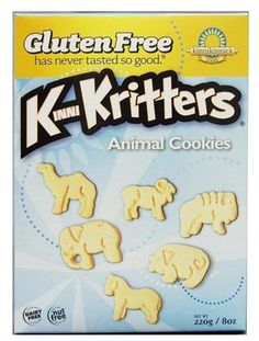 Kinnikinnick Foods KinniKritters Animal Cookies, Gluten Free, Wheat Free, Dairy Free, Box (Pack of Cookies Gluten Free, Gourmet Cookies, Fructose Malabsorption, Peanut Allergy, Allergy Free, Egg Allergy, Lactose Free, Dairy Free Recipes, Food Allergies