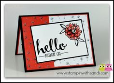 Stampin Up What I Love Stamp Set card by Sandi @ www.stampinwithsandi.com