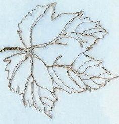 thimbleberry leaf sculpture by wire sculptor Elizabeth Berrien