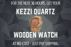 Get you FREE Kezzi Quatrz Wooden Watch at Adventure Tech Store!  Limited Time Only! Just Pay Shipping! Order today!  https://www.adventuretechstore.com/collections/sport-gps-running-watches/products/kezzi-casual-wooden-watch?variant=28561359361