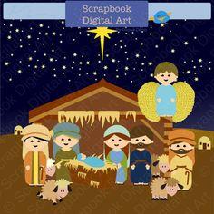 Nativity Scene Clip Art Christmas Clipart Navidad Background