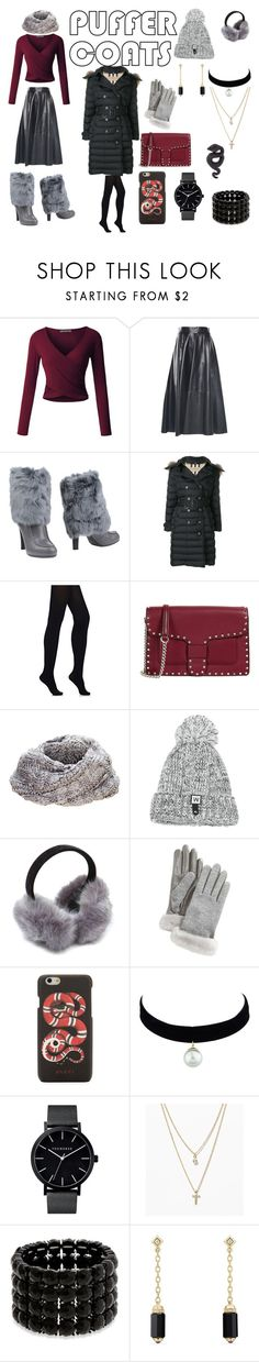 """puffer"" by viviana-candidi-petrova ❤ liked on Polyvore featuring LE3NO, Hogan, Burberry, Wolford, Rebecca Minkoff, adidas, UGG, Gucci, LOFT and Erica Lyons"