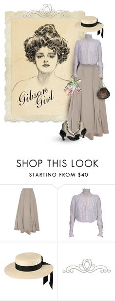 """Gibson Girl"" by luvchildski ❤ liked on Polyvore featuring Tome and Mich Dulce"