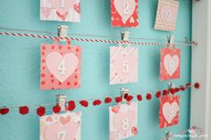 Count down the days til the most love-y day of the year with my Valentine Countdown! via createcraftlove.com #valentinesday #papercrafts #adventcalendar