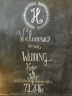 We have a lot of people use our chalkboards for fun quotes, but we can always keep them simple to your tastes. Our event planners are here to make you happy!