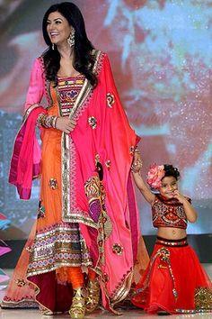 Sushmita Sen with daughter