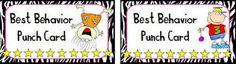 Best behavior punch card