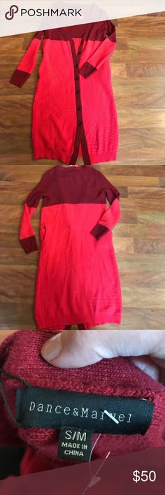 Dance and marvel tunic sz s/m Dance and marvel s/m red tunic Tops Tunics