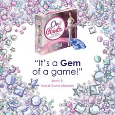 On Pointe is a beautiful ballet-themed board game.  Dance your way from the barre to a star and collect treasures to score points along the way. It's perfect for the dance lover in your family.  Learn more at onpointegame.com  #balletgame #balletgifts #gems #boardgames Ballet Beautiful, Games For Girls, Barre, Board Games, Gems, Artists, Star, Learning, Shopping