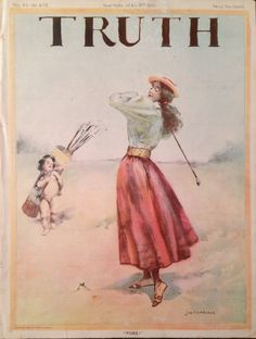 Truth Magazine 9 May 1896 Lady Golfer Cover