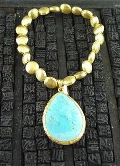 Coralia Leets Turquoise Stretchy Bracelet
