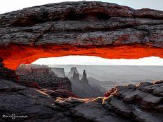 """""""Glowing"""" ... beautiful morning at Mesa Arch"""