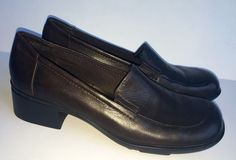 Nine West Brown Leather MYRA Loafers-Womens-Sz 6M #NineWest #LoafersMoccasins