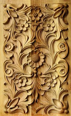 Rectangular panel 2, wood carving, traditional Bulgarian style
