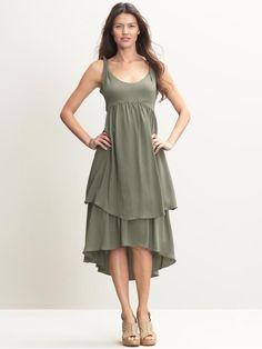 Twist strap empire waist dress