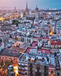 """⠀ Views of Gothic Quarter and Barcelona Cathedral from the bell tower of Basilica of Santa Maria del Pi. Shot taken during the @48hOpenHouseBcn festival…"""