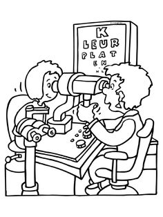 opticien Cartoon Coloring Pages, Colouring Pages, Coloring Sheets, Coloring Books, Kindergarten Activities, Activities For Kids, 3d Pencil Drawings, Preschool Pictures, Preschool Prep
