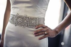 I love the idea of adding an embellished belt or sash to an otherwise simple but elegant dress