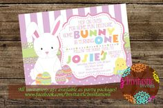 Easter Birthday Invitation-Easter Some Bunny by InvitasticInvites
