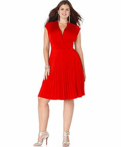 Soprano Plus Size Dress, Cap Sleeve Pleated Empire - Plus Size Dresses - Plus Sizes - Macy's
