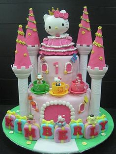 Cupcake Divinity.. Cupcakes fit for divines!: Kimberly's Hello Kitty theme cake