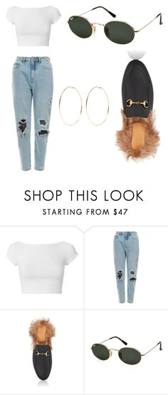 """""""kelsey simone vibes"""" by kiarahjohnson78 ❤ liked on Polyvore featuring Helmut Lang, Gucci, Ray-Ban and Kenneth Jay Lane"""