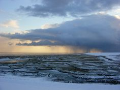 Terschelling sneeuw aan de dijk Striep